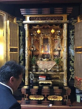 180518店長と仏壇