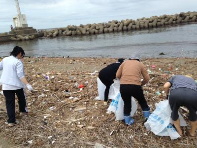 海岸清掃風景1