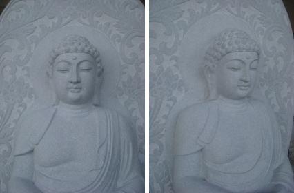 仏様、御影石で製作