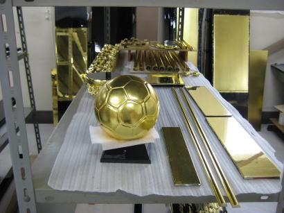金箔サッカーボール