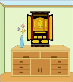 お仏壇配置例3