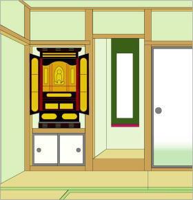 お仏壇配置例4