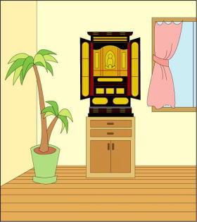お仏壇配置例6
