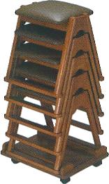 本堂用椅子TR350専用台車の使用例